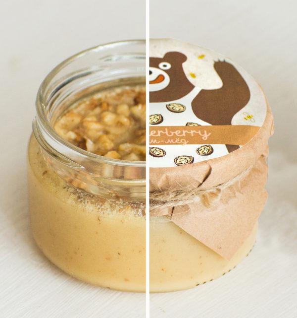Крем-мед с грецким орехом