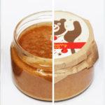 Крем-мед с яблоком и корицей