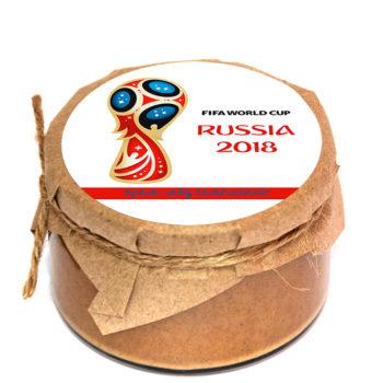 Сувенирный крем-мед к чемпионату мира по футболу