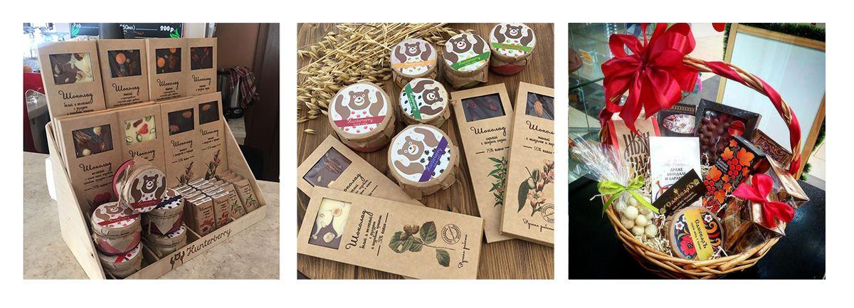 Крем-мед и шоколад для магазинов чая кофе и сладостей